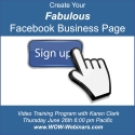 Create Your Fabulous Facebook Business Page - Recorded Program