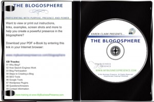 The Blogosphere Audio Training CD by Karen Clark - Inside