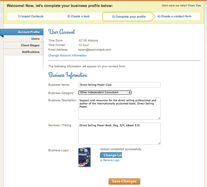 basic contact information form