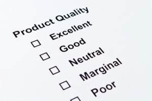 Checklist for Product Reviews