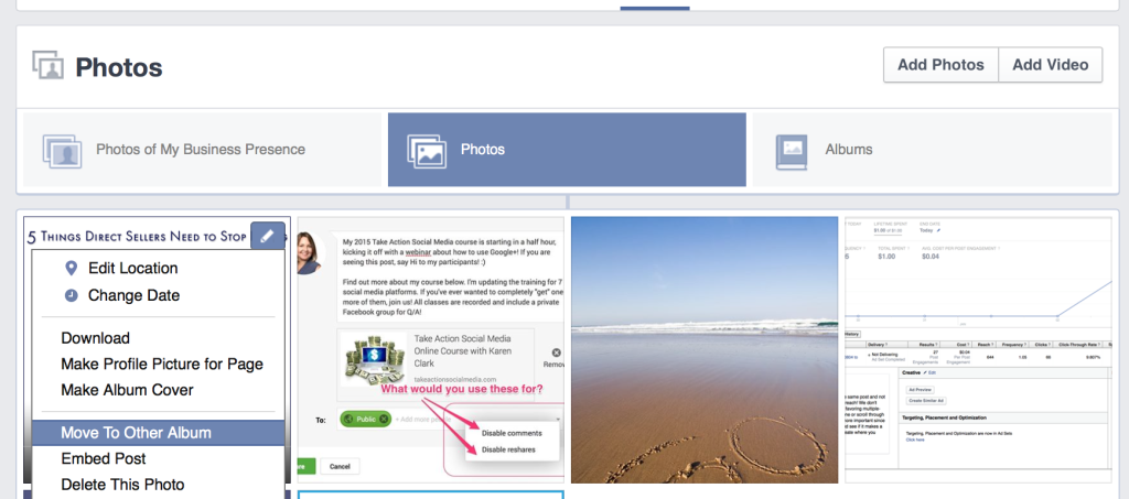 Create a Library of Resources on your Facebook Photo Tab