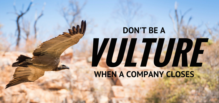 Don't be a vulture when a direct selling company closes