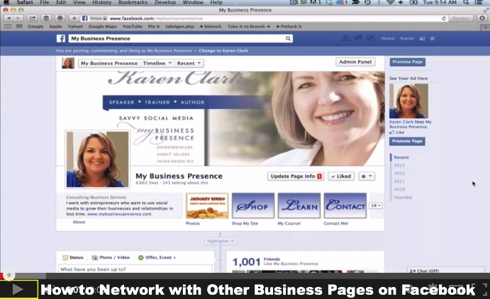 how to open my facebook business page